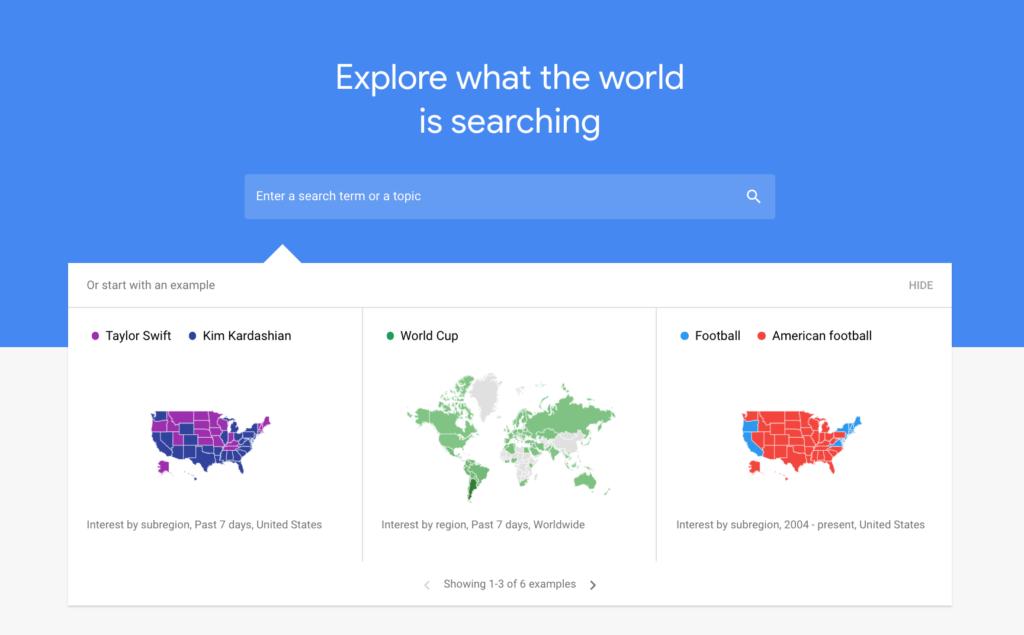 Focus on Google trends